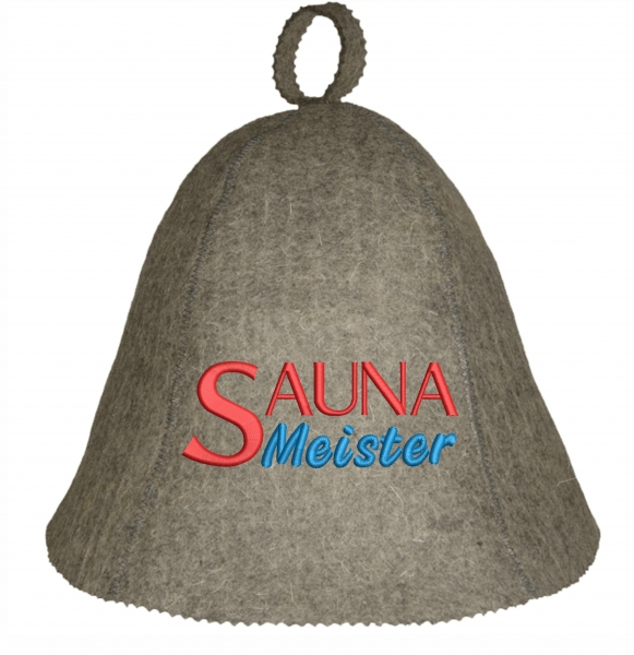 """Saunahut """"SaunaMeister"""" aus 100% Wolle"""