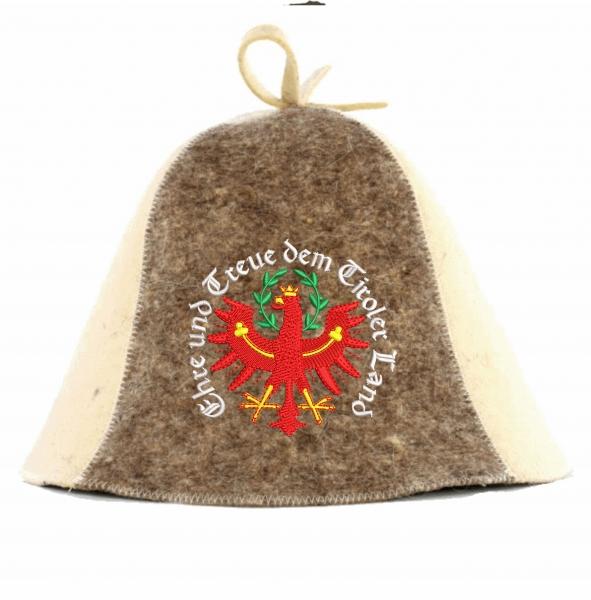 """Saunahut """"Tiroler Saunahut"""" aus 100% Wolle"""